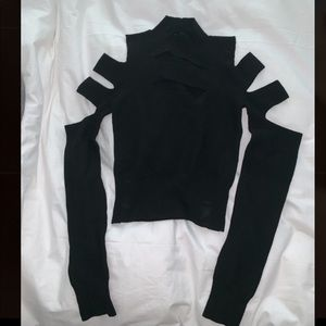 Tops - Express cut out mockneck sweater